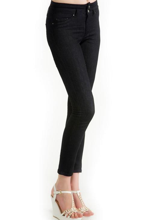 Yüksek Bel Koyu Renk Denim Pantolon 14KOX-DENRINHIGH