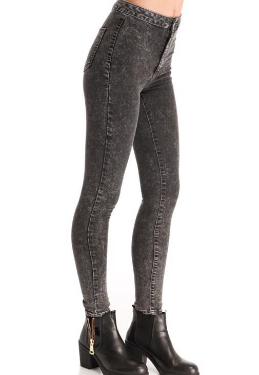 Yüksek Bel Skinny Denim Pantolon 14KOX-ALJEG