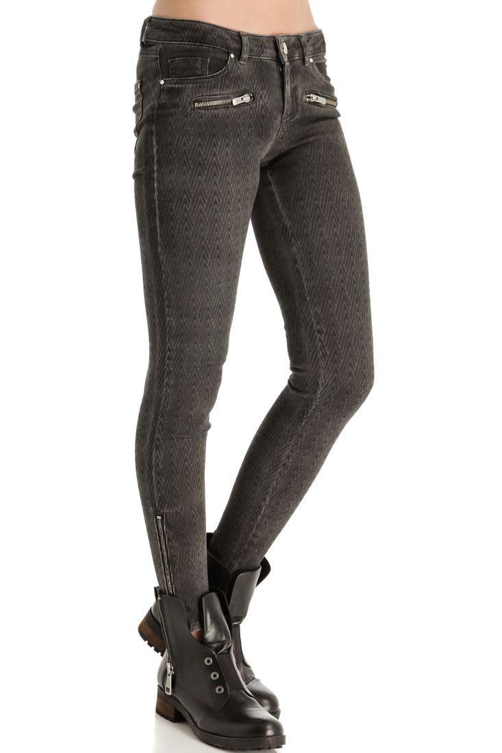 Fermuar Detaylı Skinny Denim Pantolon