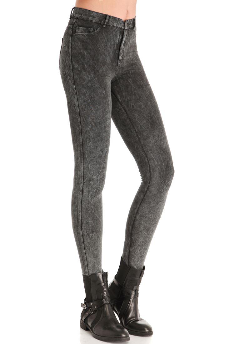 Denim Görünümlü Skinny Pantolon