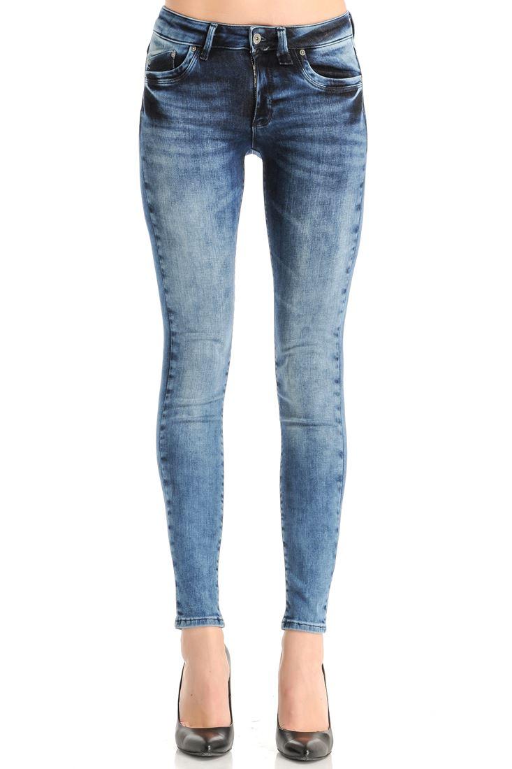 Düşük Bel Denim Skinny Pantolon