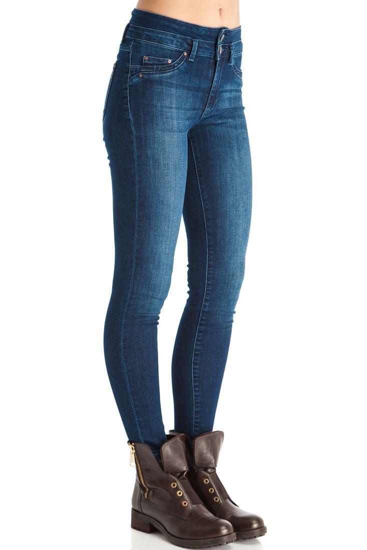 Yüksek Bel Skinny Denim Pantolon