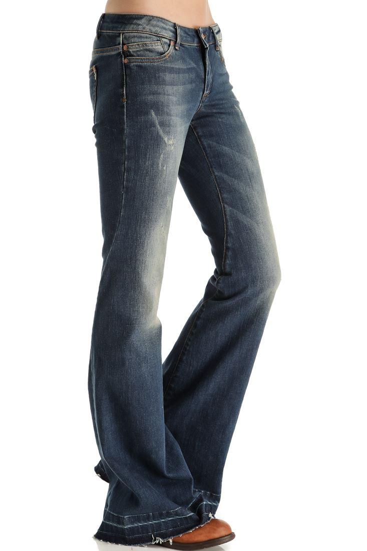 İspanyol Paça Denim Pantolon