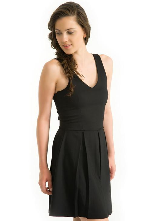 Sırt Dekolteli Elbise 15YOX-FLAREDRESS