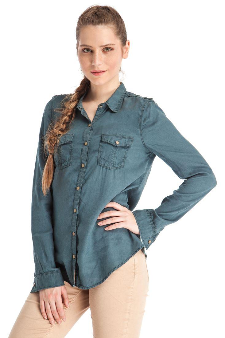 Uzun Kollu Cepli Gömlek