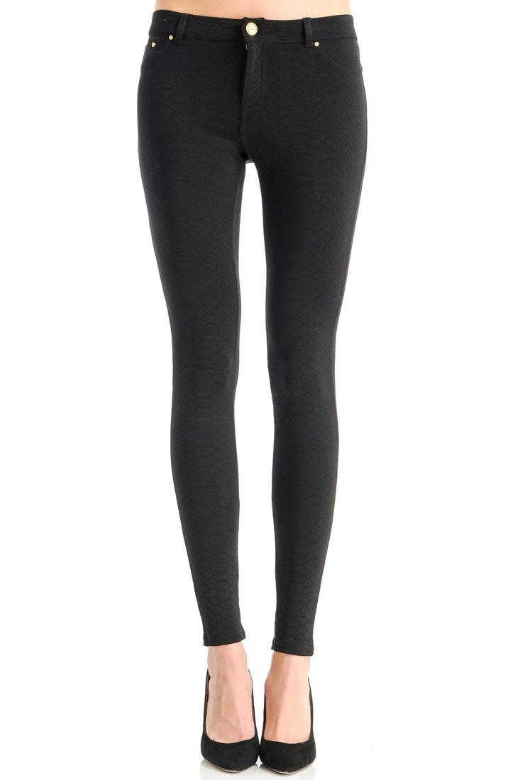 Yılan Derisi Desenli Skinny Pantolon