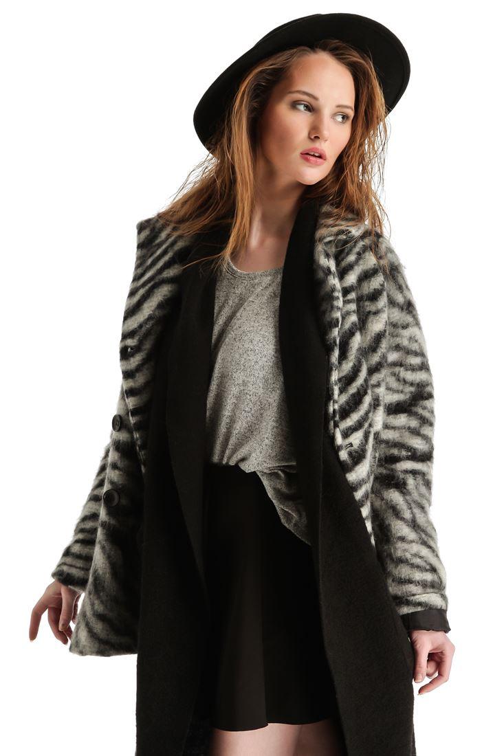 Zebra Desenli Palto