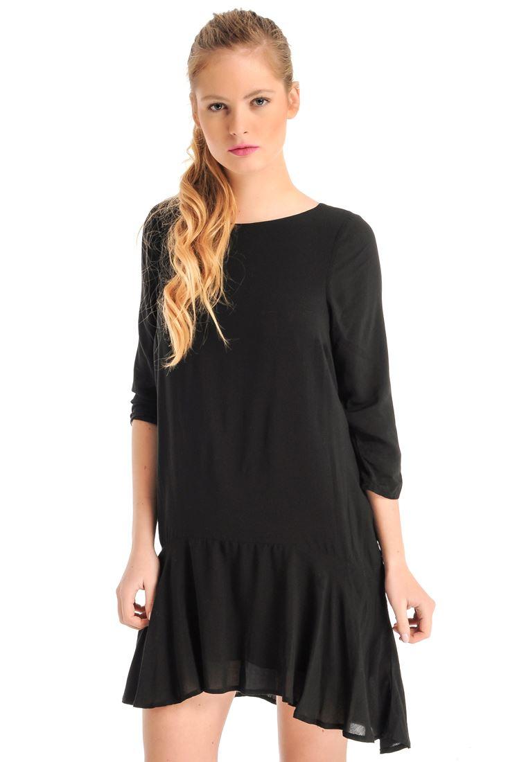 Eteği Volanlı Mini Elbise