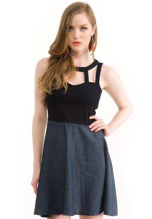 Denim Elbise 14YOX-ELIZA