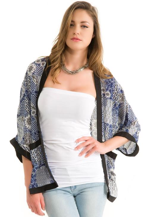 Kısa Kollu Kimono Ceket 14YOX-NOVMIXCAR