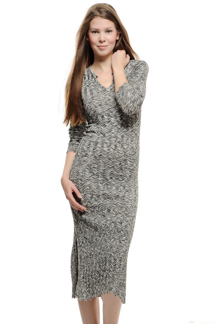 Triko elbise Yelek Kombini 15KOX-BORDRESS