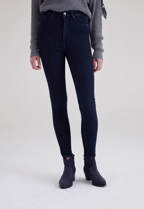 Ultra Yüksek Bel Skinny Jean Pantolon 15KOX-DENULTYDARK15K