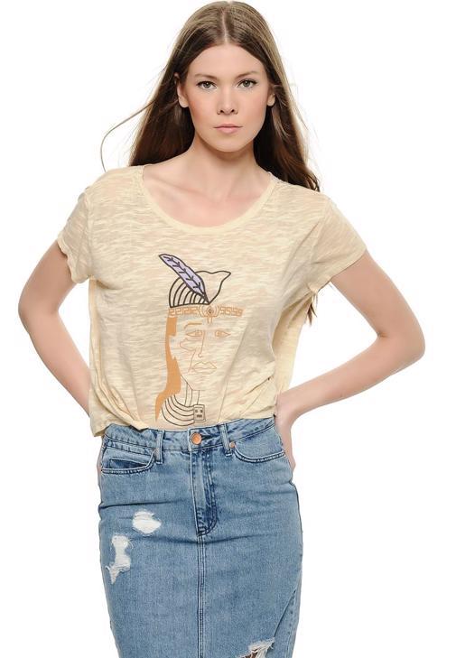 Yüz Baskılı Kısa Tişört 15KOX-DEVBASFACE
