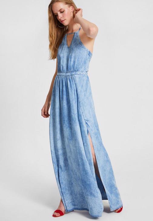 Denim Uzun Elbise 15KOX-HOLIDAY