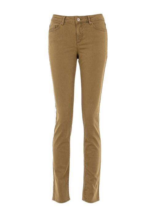 Yeşil Düşük Bel Slim Paça Pantolon