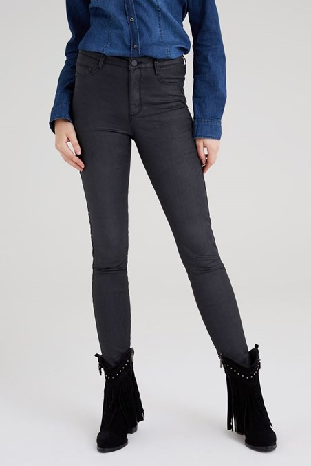 Kaplamalı Yüksek Bel Skinny Pantolon 15KOX-KAPANTNEW