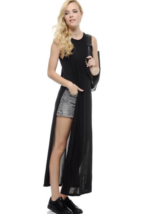 Yandan Derin Yırtmaçlı Elbise 15KOX-KASPOLEL