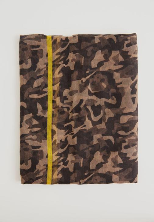 Askeri Desenli İnce Şal 15KOX-NEWCAMCIZ