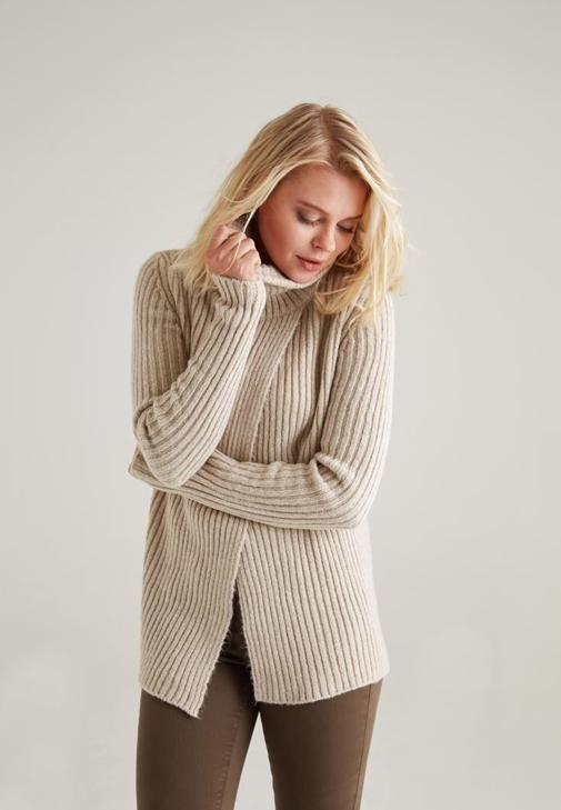 Front Wrap Rollneck Pullover 15KOX-SURTOPVE