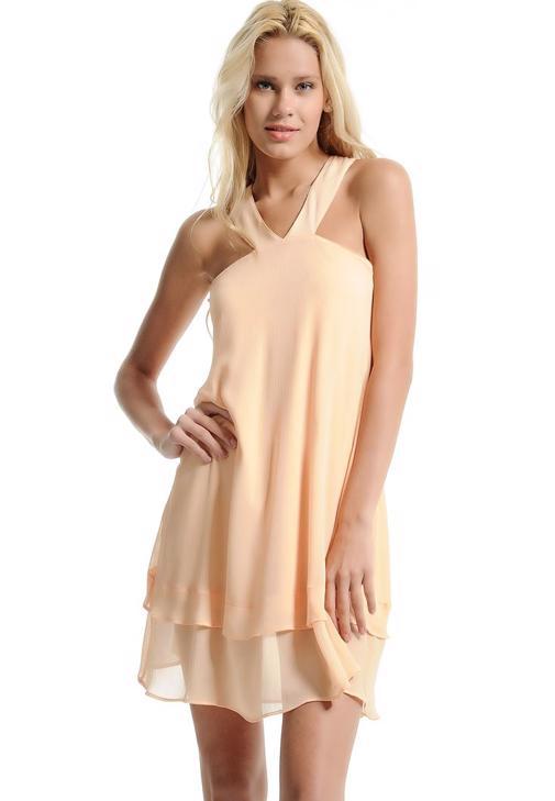 Şifon Askılı Elbise 15YHOT-SIFNECKEL