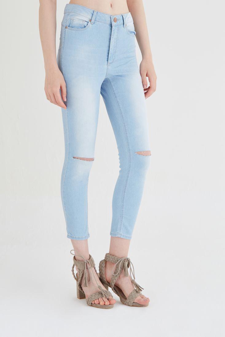 Skinny Denim Paça Pantolon Kombini 15YOX-ALCROP