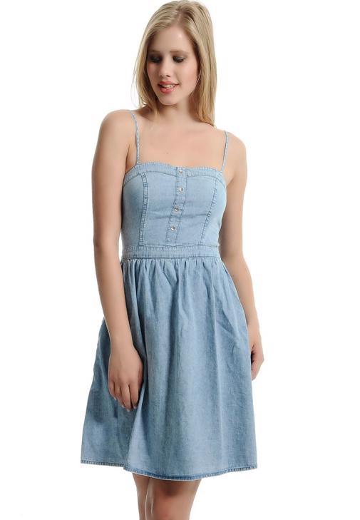 Askılı Jean Elbise 15YOX-DARCY