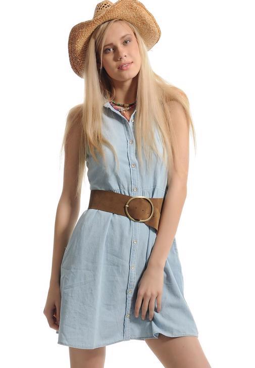 Jean Shirt Dress 15YOX-EVITA