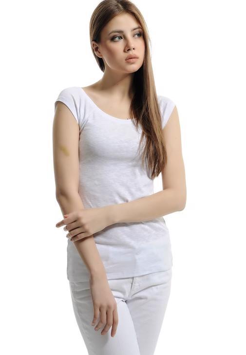 Kayık Yaka Pamuklu Tişört 15YOX-FLARBOT15Y