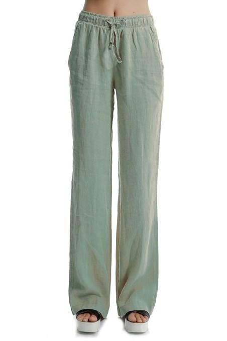 Keten Geniş Paça Pantolon 15YOX-KETWIDEPAN