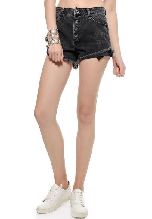 Yırtık Mini Jean Şort 15YOX-MARIAN
