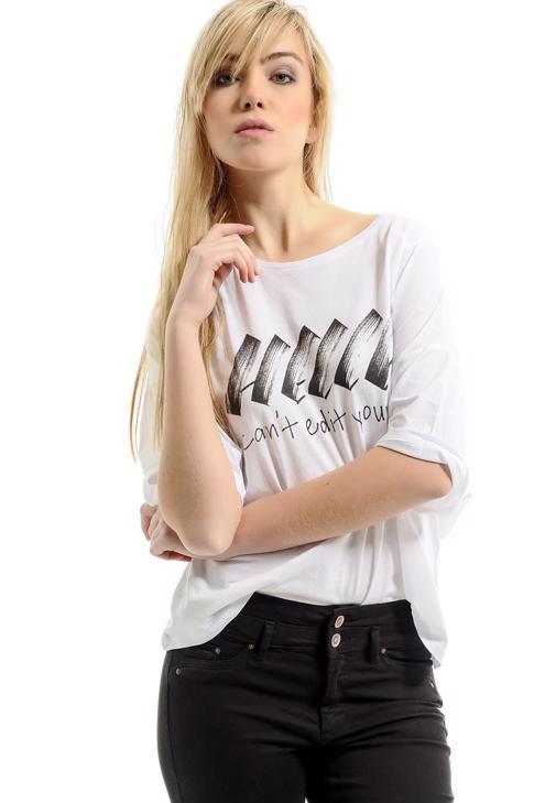 3/4 Kollu Baskılı Tişört 15YOX-MODBASTOP