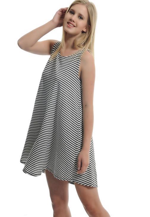 Çizgili Askılı Elbise 15YOX-NOPCIZEL