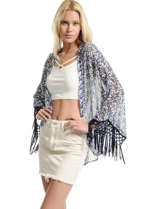 Kolları Püsküllü Kimono 15YOX-NOVSACKIM