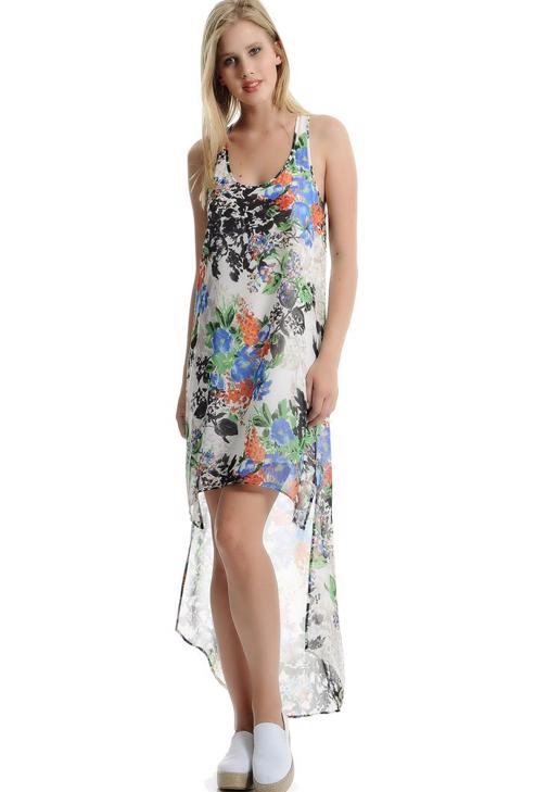 Arkası Uzun Şifon Elbise 15YOX-SIFASEL