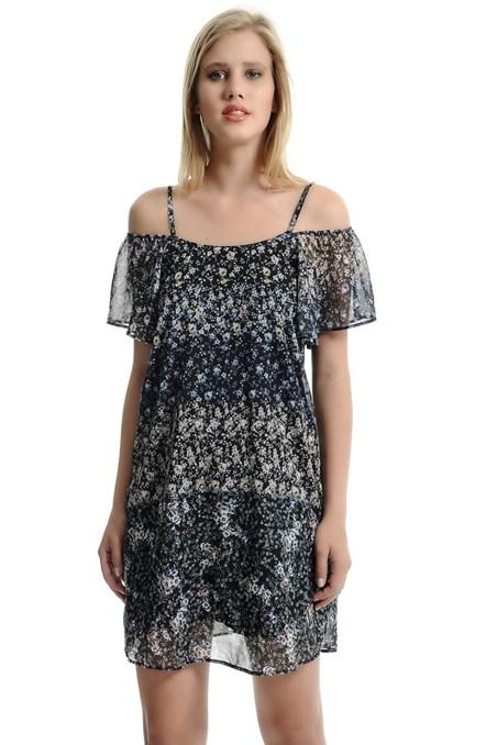 Omuz Pencere Detaylı Elbise 15YOX-SIFKISEL