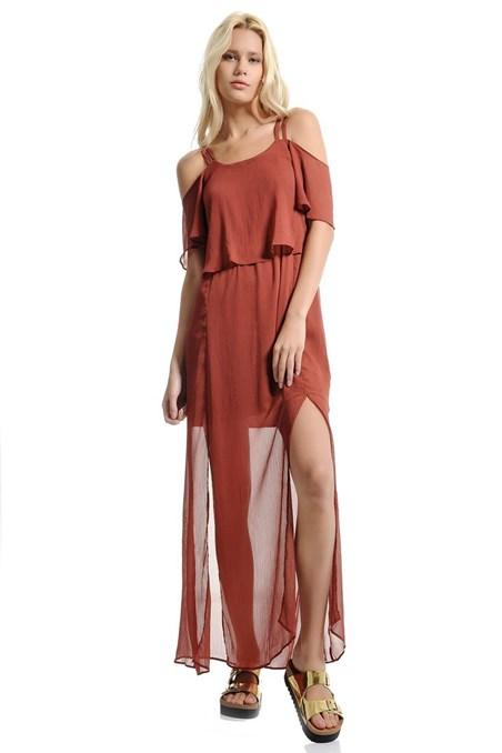 Omuz Dekolte Detaylı Bohem Elbise 15YOX-SIFYIRTEL