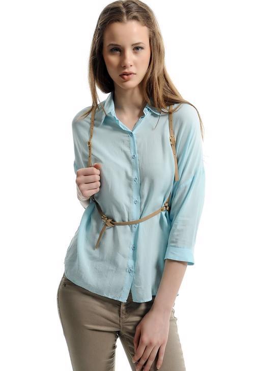 Renkli Düğmeli Gömlek 15YOX-TENBOLGOM