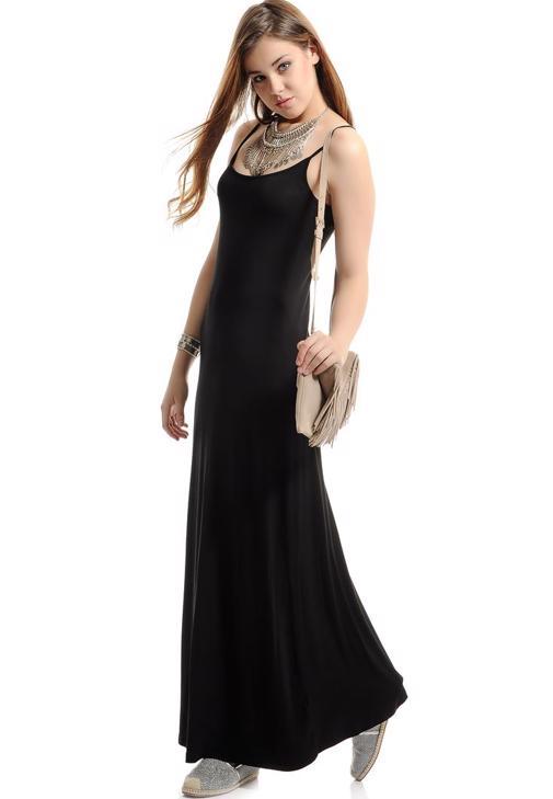 Askılı Uzun Elbise 15YOX-VISUZDRESS