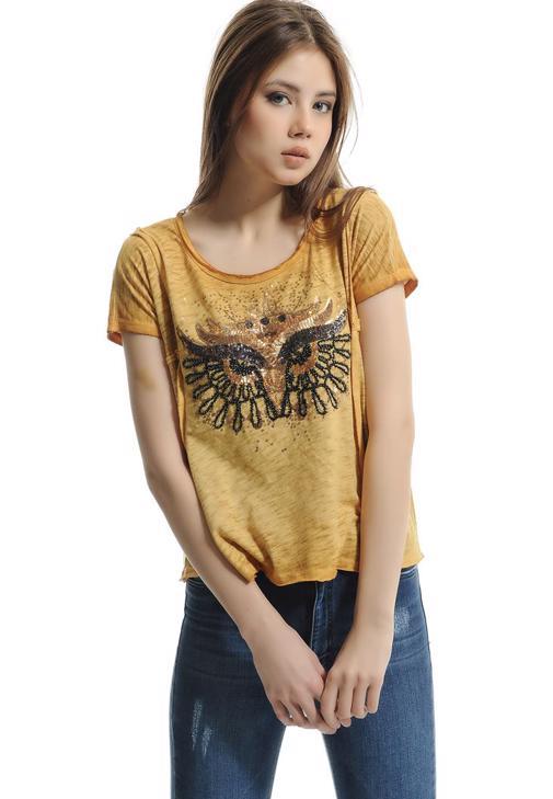 Pullu Baykuş Baskılı Tişört 15YOX-YILTOPBAY