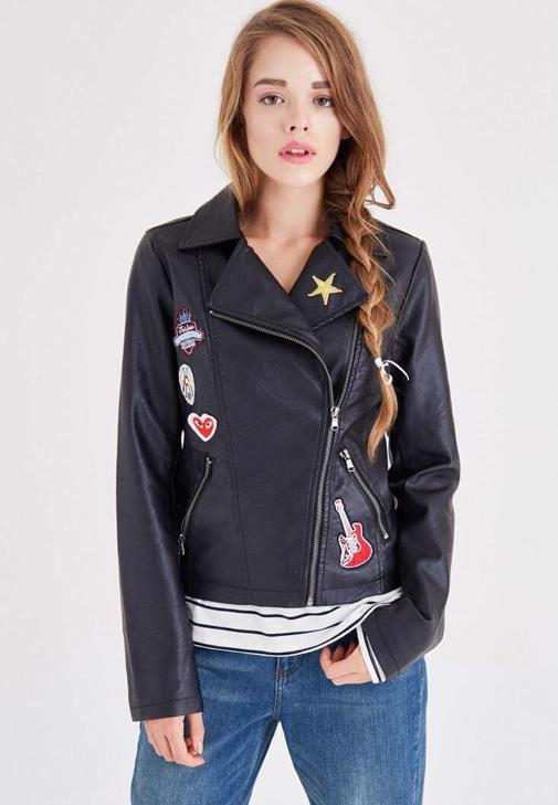 Leather With Pin Detail