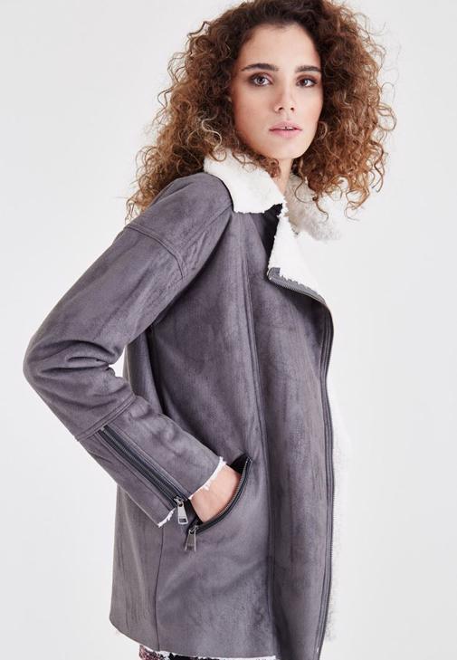 Fur Detailed Overcoat