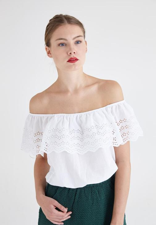 Purl Detailed Blouse