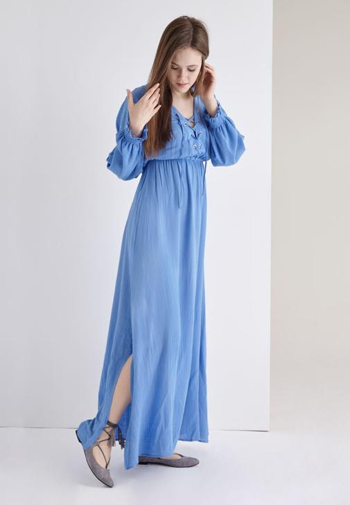 Slitted Detailed Maxi Dress