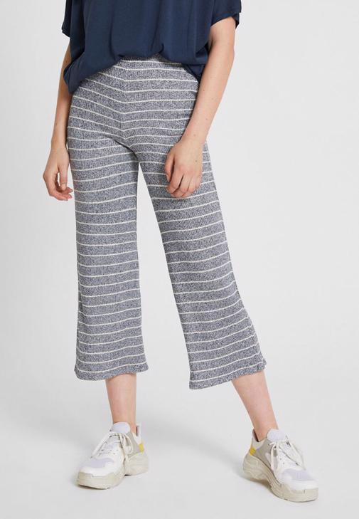 Stripped Culotte Pants