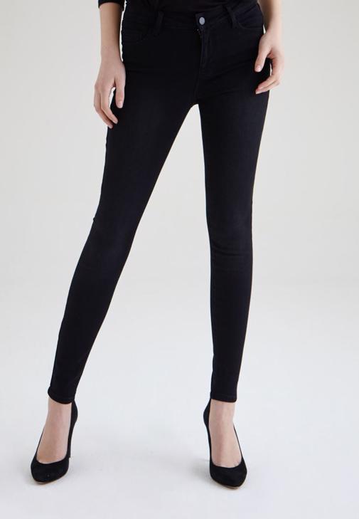 Siyah Normal Bel Skinny Pantolon