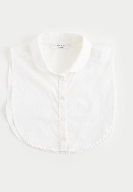 Krem Gömlek Yakası