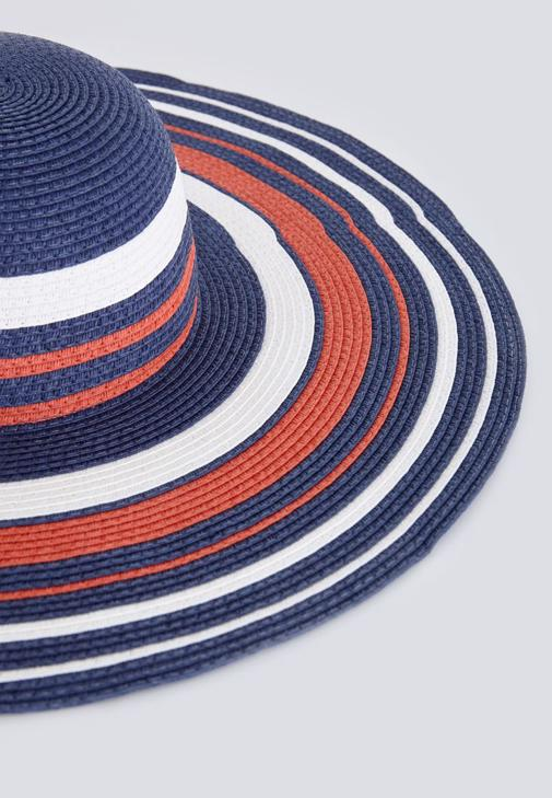 Straw Hat With Stripped Detail
