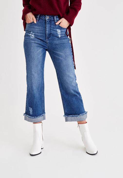 Jeans With Slogan