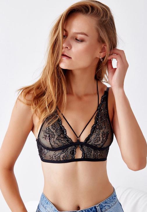 Lace Bralette With Back Detail