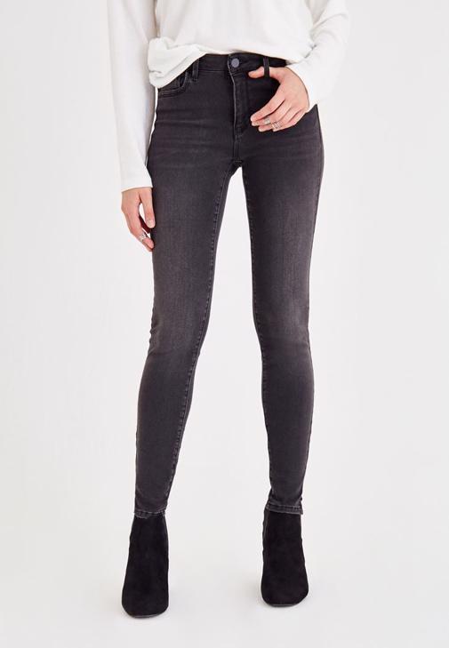 Mid Rise Legging Detailed Jean